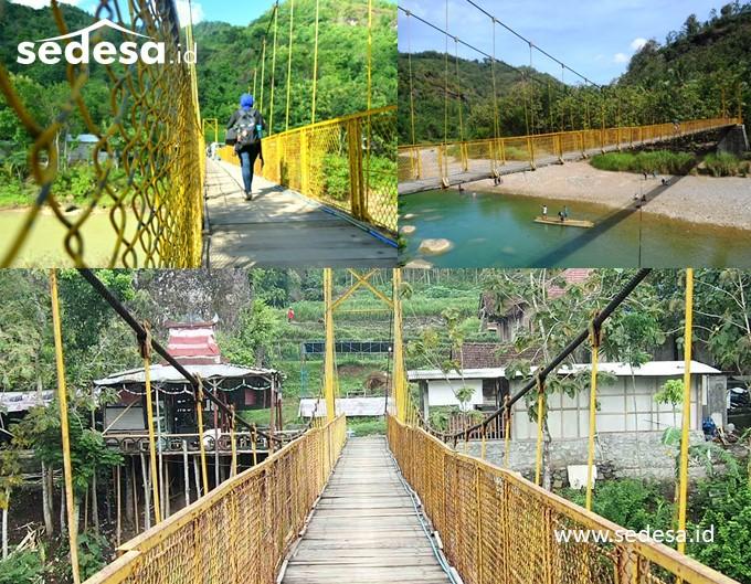 Jembatan Gantung Selopamioro Andalan Desa Wisata Srikeminut