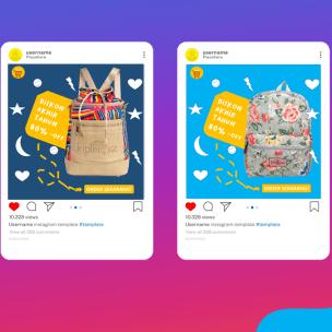 Download Template Promosi Powerpoint Instagram