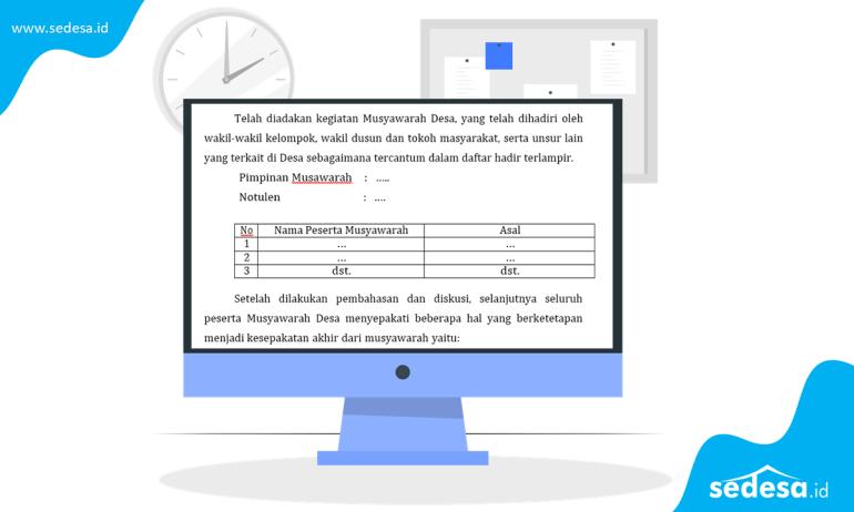 Download Berita Acara Musyawarah Desa Pembentukan BUMDes
