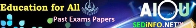 Past Papers AIOU