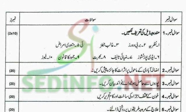 Code 203 Autumn 2014 AIOU Past Papers