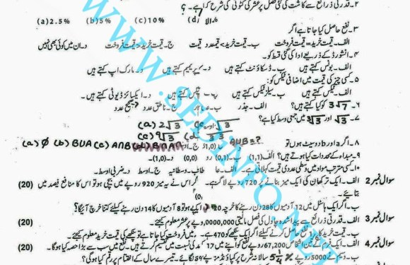 Code 247 Matric AIOU Past Papers A2013
