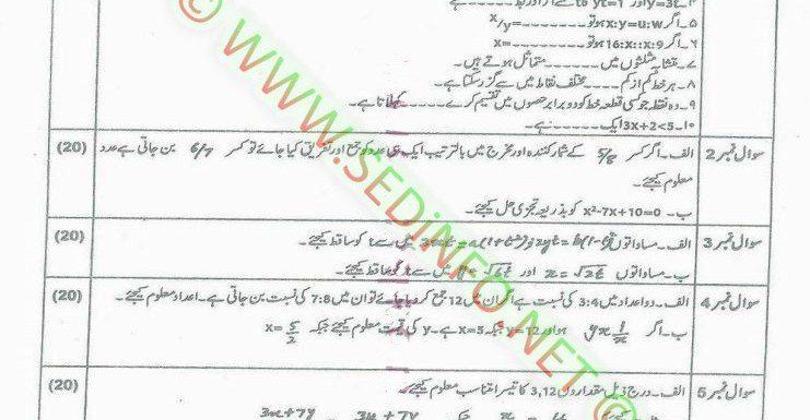 Code 248 Matric AIOU Past Papers A2014