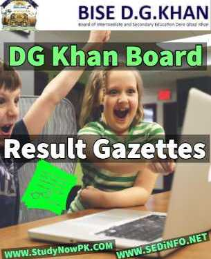 Download 11th Gazette DG Khan Board Result 2019