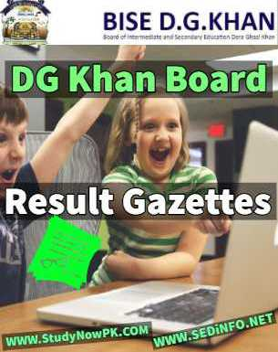 Download DG Khan Board Inter Part 1 Gazettes 2018