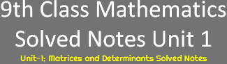Download 9th Class Math Notes