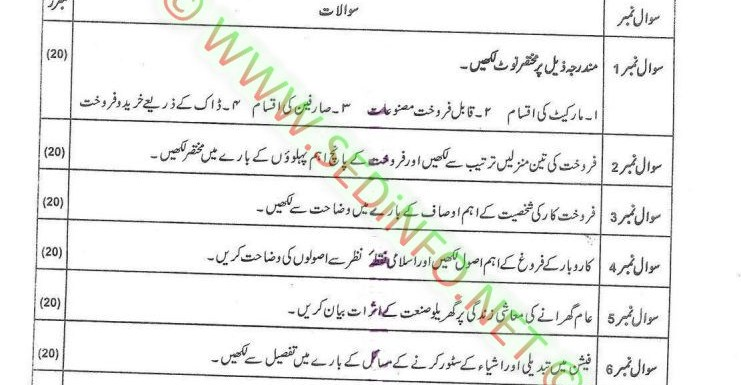 AIOU Matric Code 200 Past Papers Spring 2017