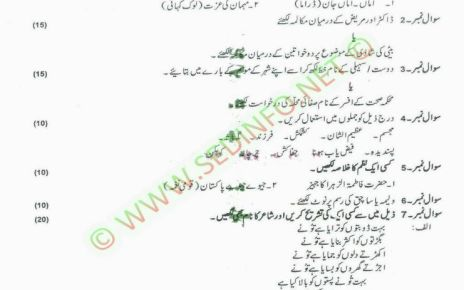 AIOU-Matric-Dars-e-Nizami-Code-204-Past-Papers-Autumn-2013