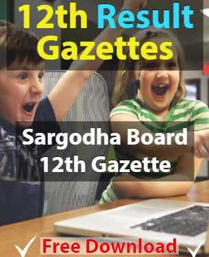 Download 11th Gazette Sargodha Board Result 2019