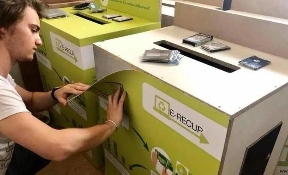 caissons récupération matériel électronique