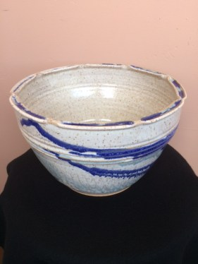 Ken Barnes Ceramic Grey Blue Split Rim Bowl
