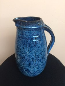 Ken Barnes Ceramic Tall Blue Pitcher