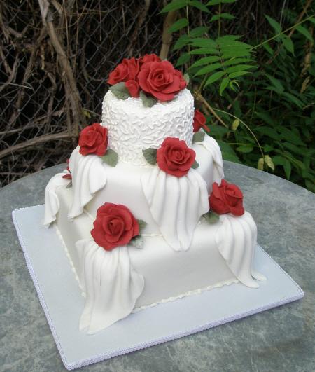 Red Rose Wedding Cake Sedona Wedding Cakes