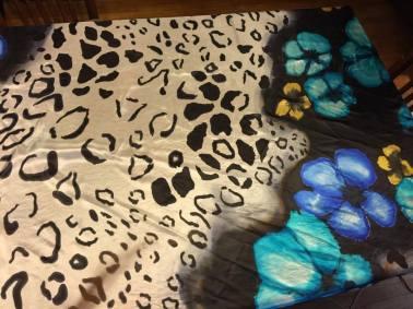 Karla's animal floral. Inspiration was a Dolce & Gabbana bikini print.