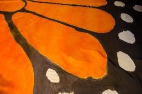 Handpainted Monarch Veil 2015