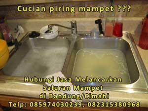 Jasa melancarkan saluran mampet / tersumbat di Bandung