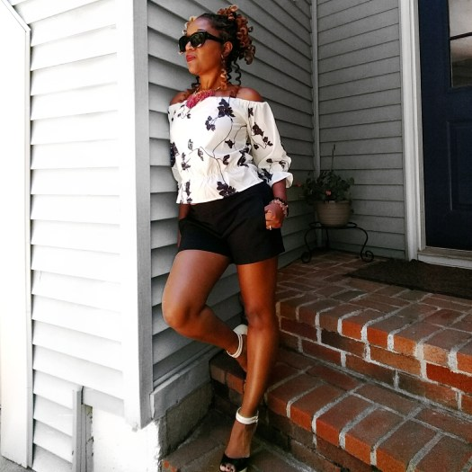 Black and White Off Shoulder Top | Sedruola Maruska