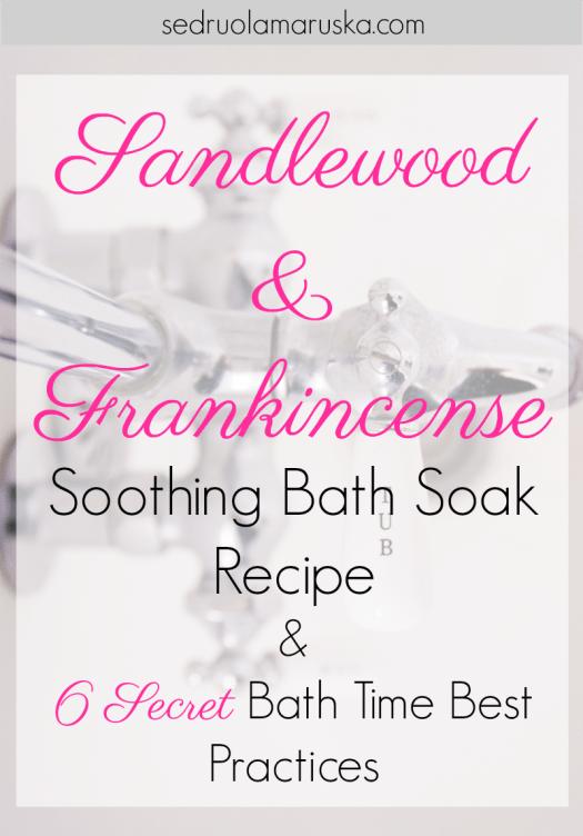 Sandlewood & Frankincense Soothing Bath Soak | Sedruola Maruska