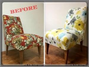 Poltroncina floreale - Floral slipper chair