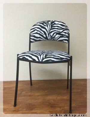 Sedia da ufficio zebrata - Zebra-striped desk chair