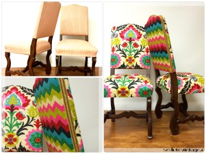 Coppia sedie sala - Pair of dining chairs