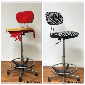 Sedia da ufficio zebrata - Office chair with zebra pattern fabric