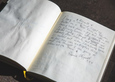 18 Ronnie Fitzgerald handwriting 1