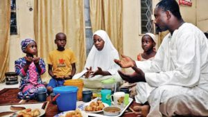 Family iftar in Africa