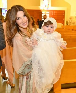 Ajram with her daughter