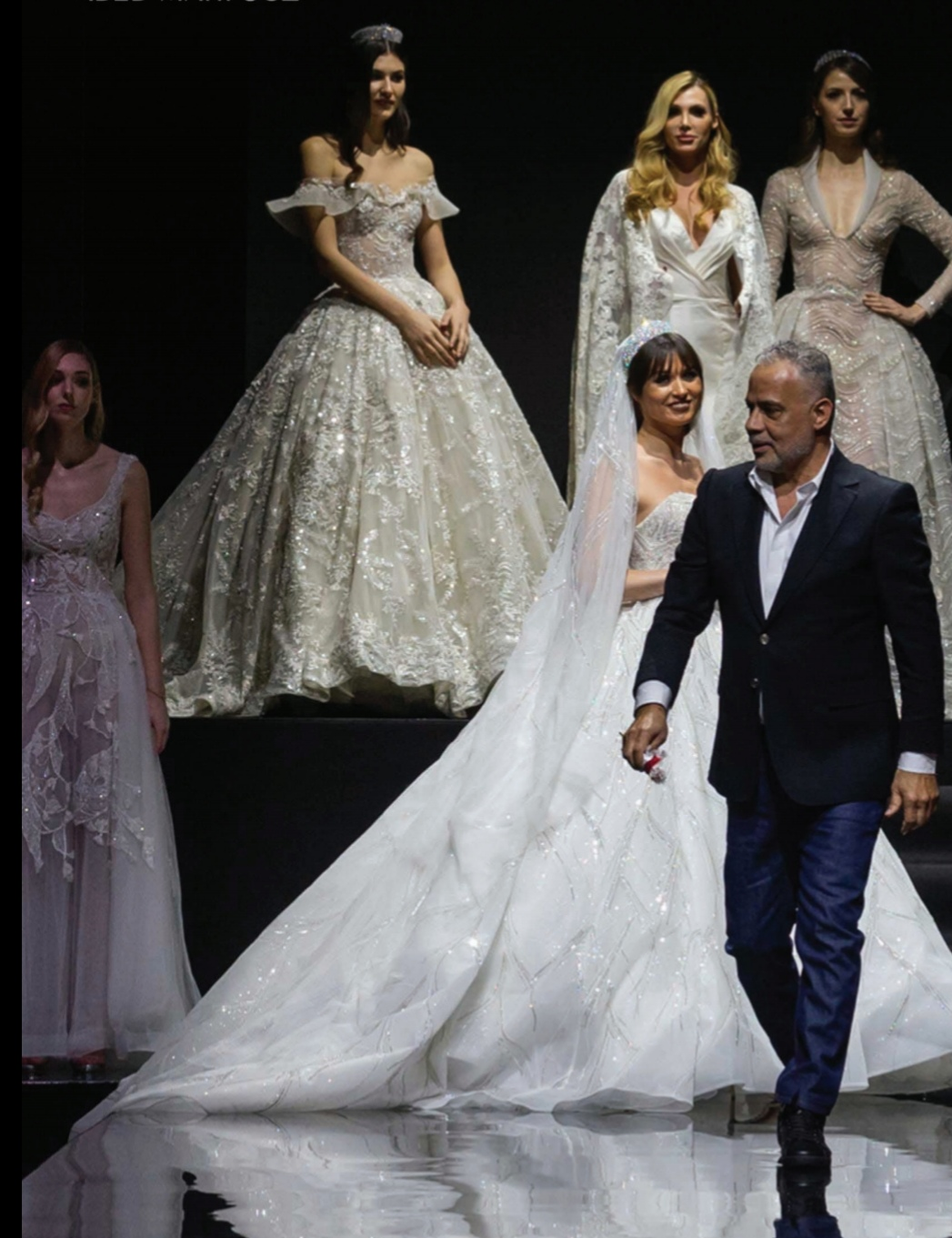 Abed Mahouz on catwalk