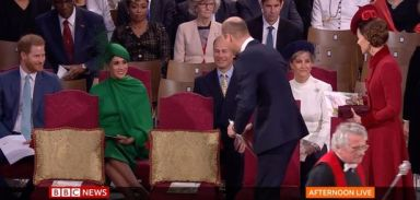 William, Harry exchange brief and cold greeting as they meet