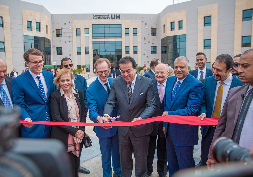 The management of UK University of Hertfordshire confirmed that its educational branch in Egypt, located in the New Administrative Capital (NAC), which is represented in the Global University Foundation