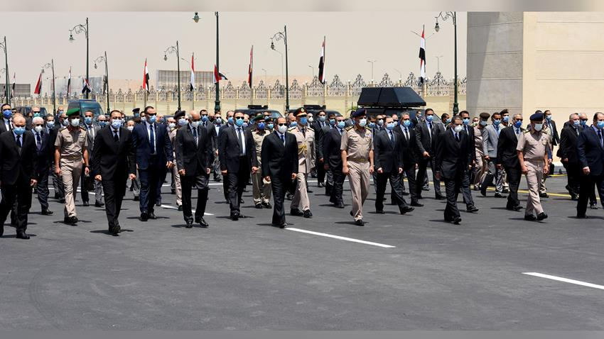 Sisi Leads Lt. Gen. Mohamed Al-Assar's Military Funeral Procession