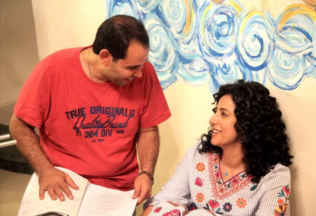 Director Ahmed Rashwan with Hanan Motawie