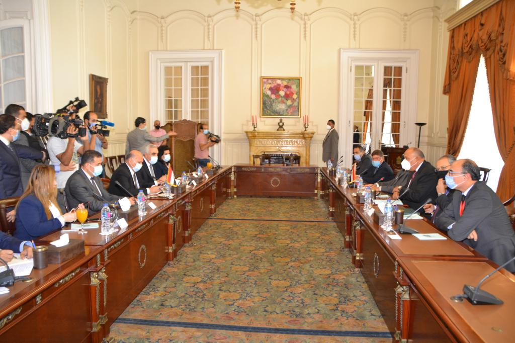 Egypt, Iraq FMs Discuss Security Challenges, Foreign Interventions