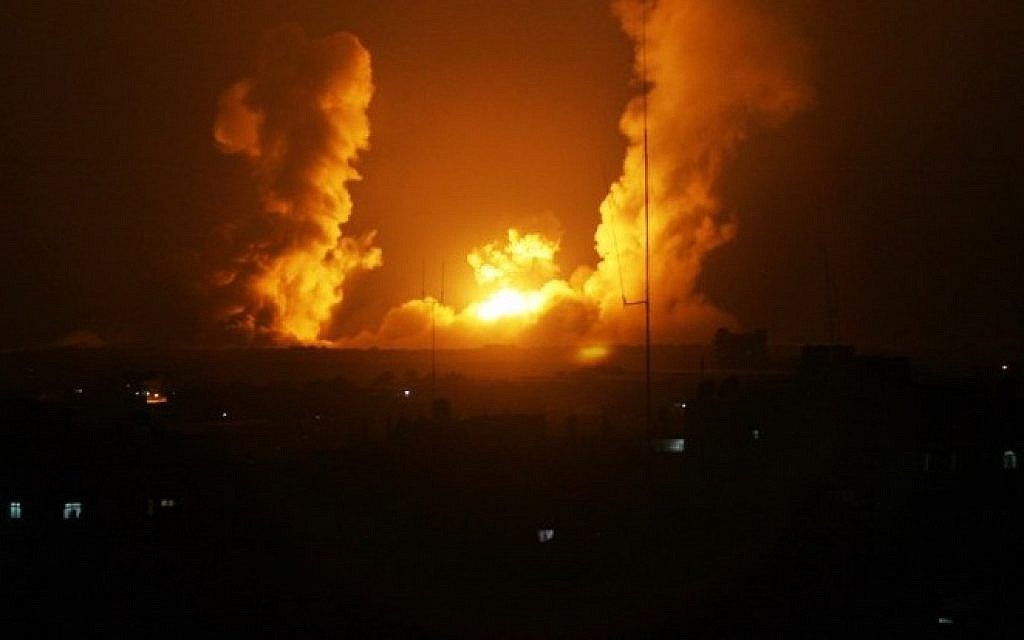 Israel Strikes Hamas Sites