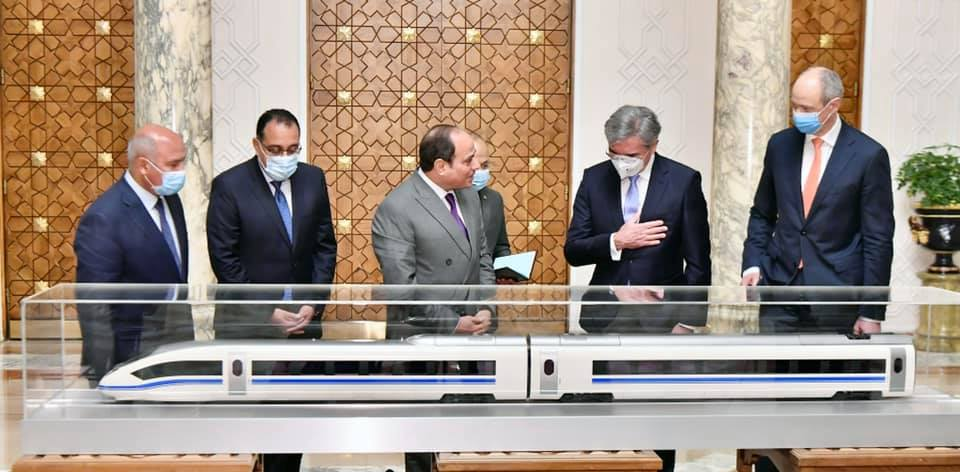 President Sisi and Siemens CEO
