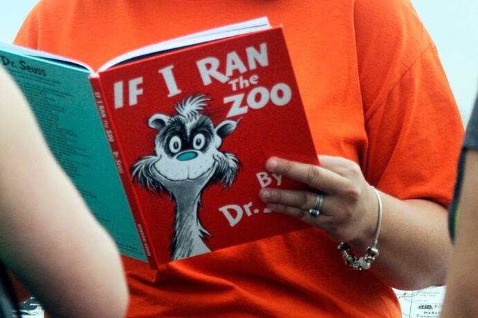 """""""If I Ran the Zoo"""" is among the titles that Dr. Seuss Enterprises decided to discontinue. (Erin McCracken/AP)"""