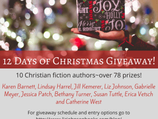 12-days-of-christmas-giveaway-karen-barnett-lindsay-harrell-jill-kemerer-liz-johnson-gabrielle-meyer-jessica-patch-bethany-turner-susan-tuttle-erica-vetsch-catherine-west