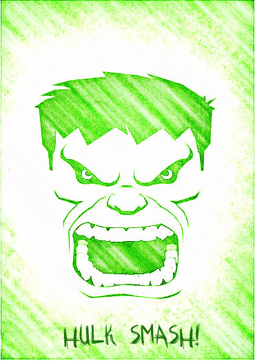 Diy incredible hulk birthday party i also edited the image into a black and white picture that i used to make freezer paper stencils for hulk shirt party favors that image is below maxwellsz