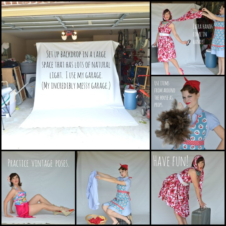 DIY Pin Up Photo Shoot setup