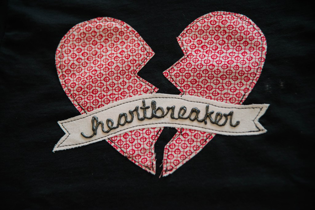 DIY Applique Heartbreaker T-shirts 16 see|cate|create