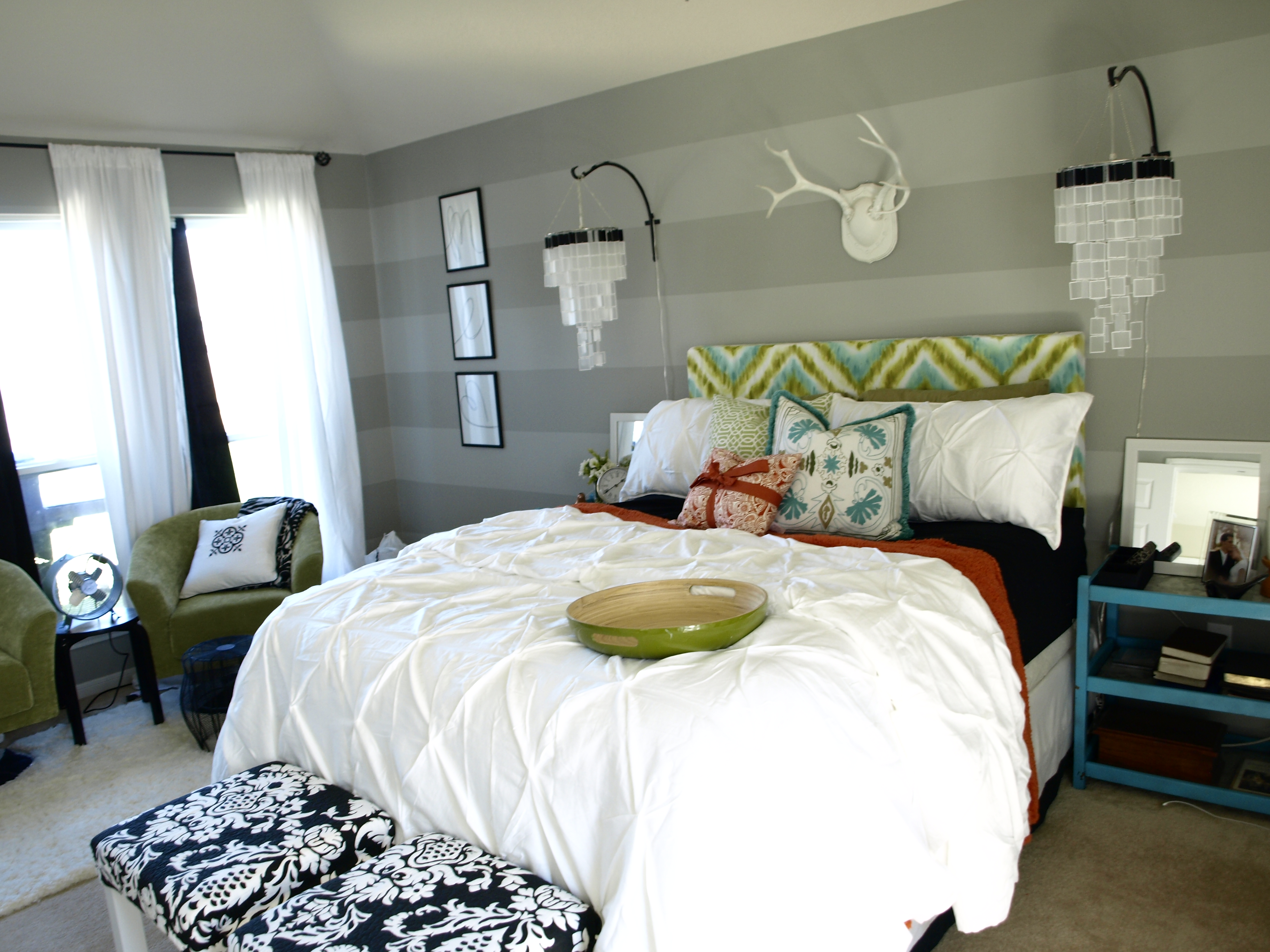 "Bedroom Redo Happy Chic"" Bedroom Makeover  Diy Bedroom Makeover On A Budget"
