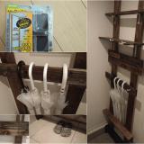 玄関に壁面収納をディアウォールで簡単DIY!3000円で機能的な傘立ての作り方。