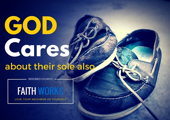 Help the homeless. Share your shoes