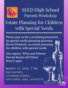 Estate Planning Workshop + Wine & Cheese