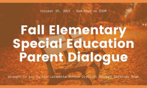 Fall-2021-Elementary-Special-Education-Parent-Dialogue graphic