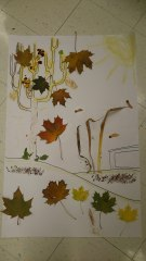 One of the MID class' fall murals.