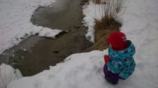My niece ice fishing in High Park. :)