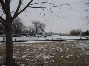 Hockey on Lake Ontario, at Ward's Island.